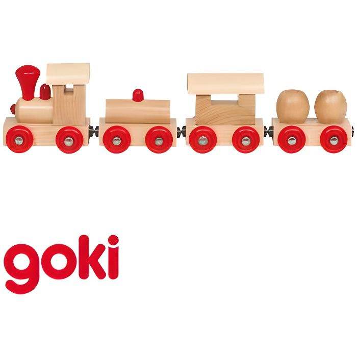 petit train en bois 25 cm avec 3 wagons aimantes jouet en bois enfant 2 ans achat vente. Black Bedroom Furniture Sets. Home Design Ideas