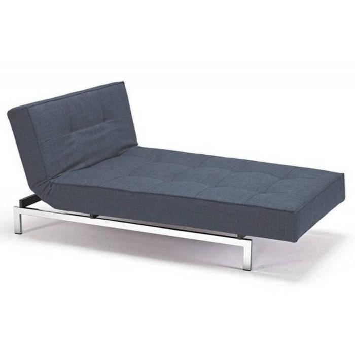 Meridienne design splitback bleue convertible l achat vente m ridienne p - Meridienne convertible 2 places ...