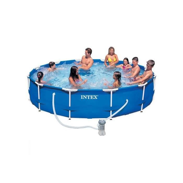 Piscine tubulaire ronde metal frame 366 x 76 cm achat vente pataugeoire - Piscine tubulaire discount ...