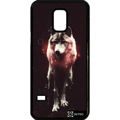 coque samsung galaxy s5 mini loup tincelant ref 596. Black Bedroom Furniture Sets. Home Design Ideas