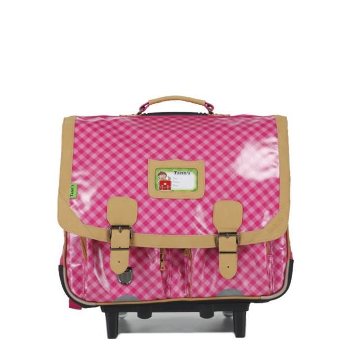 bagages cartable trolley tann s fille cm rose heritage  f tan