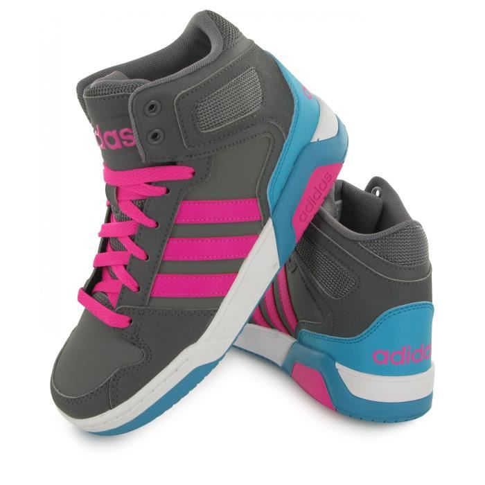 Adidas Neo Bb9tis Mid gris, baskets mode enfant