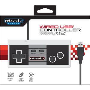 MANETTE JEUX VIDÉO Manette Retro-Bit NES USB pour PC