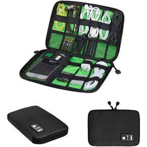2018 NEW DESIGN Noir Sacoche Pochette pour des Electroniques Sac de rangement de voyage de carte m/émoire USB de c/âble la batterie BUBM Sac Organisateur /électronique EVA