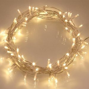 GUIRLANDE LUMINEUSE INT GUIRLANDE DE NOEL 100 LEDs 10m Blanc Chaud A LED P