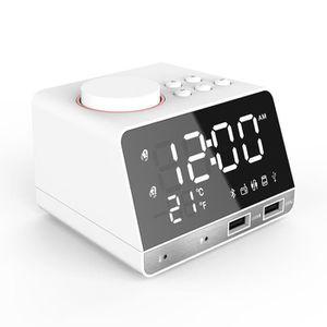 Radio réveil 2 Ports de USB, Radio reveil enceinte bluetooth 4,
