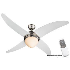 VENTILATEUR DE PLAFOND Ventilateur plafond éclairage télécommande salle d