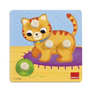 PUZZLE Puzzle chat 4 pièces en bois