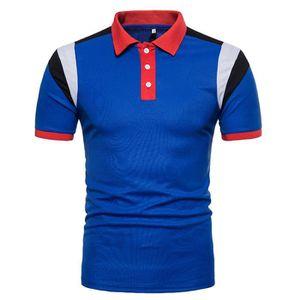 T-SHIRT Polo Homme Contraste Couleur Golf Sport T-Shirt Ma