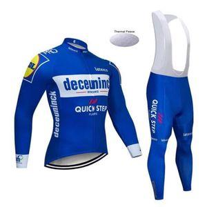 TENUE DE CYCLISME 2019 Quick step Maillot de Cyclisme Hiver Thermiqu