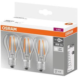 AMPOULE - LED OSRAM Lot de 3 Ampoules LED E27 standard claire 6,