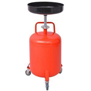 KIT DE VIDANGE MOTEUR Pompe à vidange d'huile usagée 49,5 L Acier Rouge