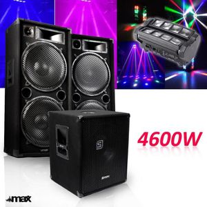 PACK SONO Pack 15-215-SK 4600W Sub38 -2 Enceintes 15