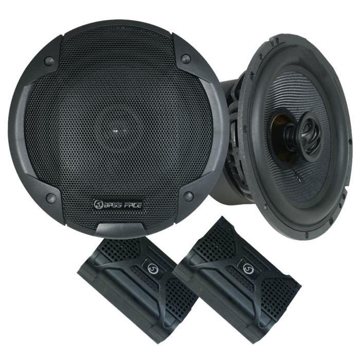2 haut-parleurs coaxiaux 2 voies BASS FACE BLACKSPL6.1 6.5- 16.50 cm 165 diamètre 370 watt rms 740 watt max 4 ohm 97 db, la paire