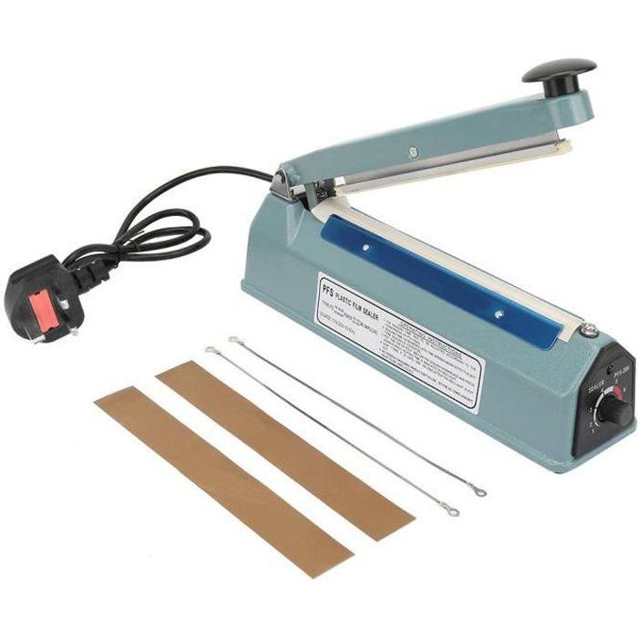 Scelleuse à impulsion scellant la chaleur manuel machine de scelleur sac plus proche emballage outil kit 220V 8in métal-TIP