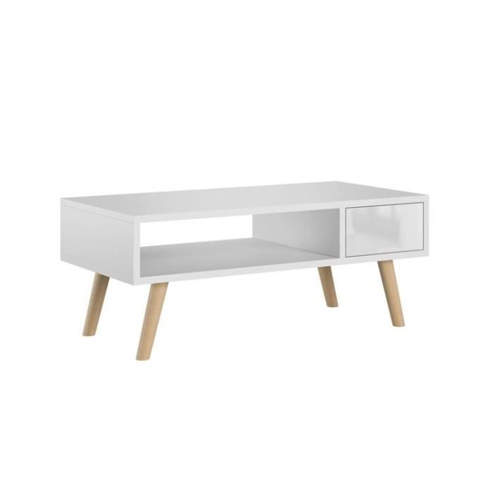 Table basse, table d'appoint Julia blanc laqué