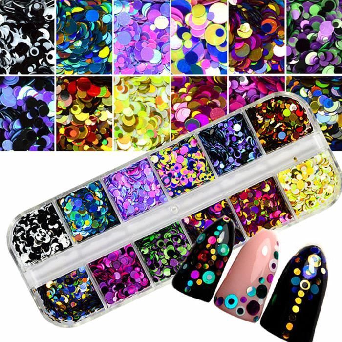 Coloré Nail Art Conseils Autocollants 3D Laser Maquillage Manucure DIY Stickers Décoration HM2366AM