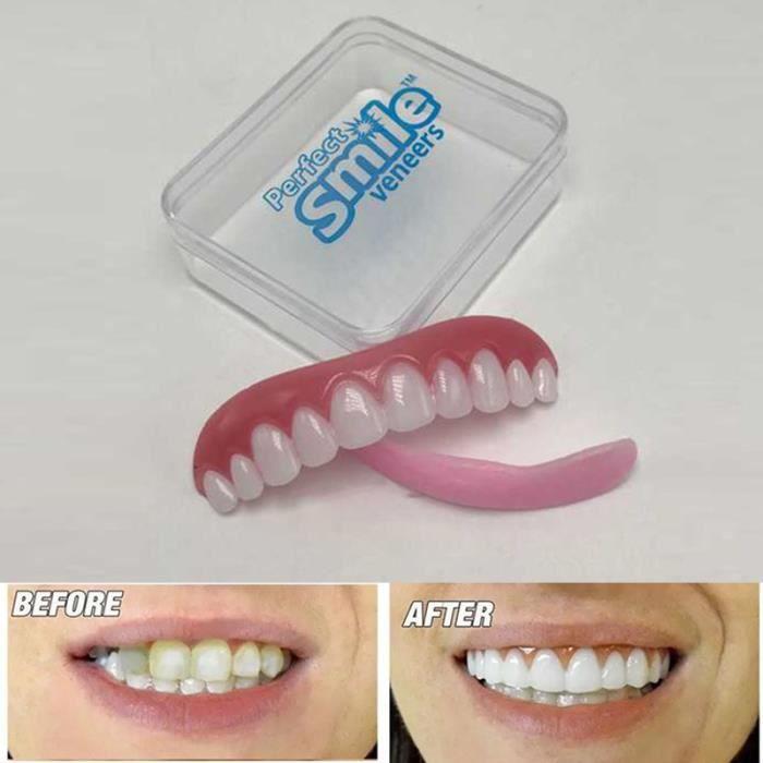Perfect smile instantané confort ajustement flex dents top silicone Carré cosmétique