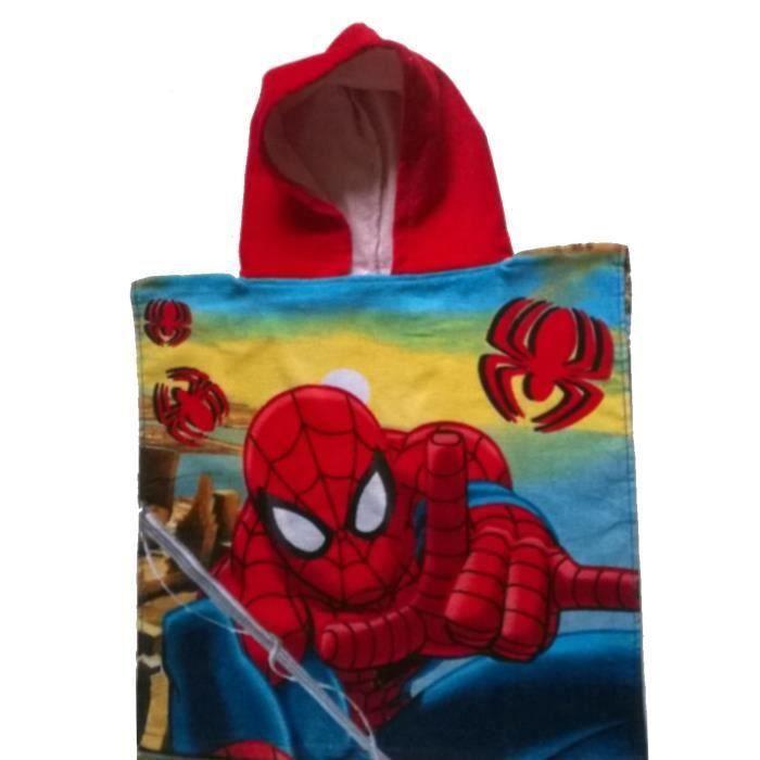 Poncho - cape de bain à capuche Spiderman