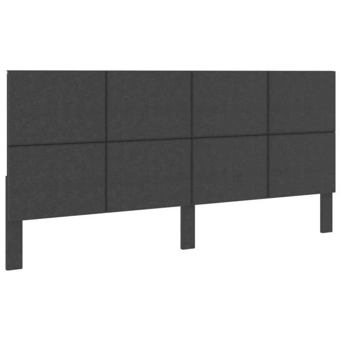 🐻4712Magnifique Confort - Tête de lit Gris foncé Tissu 200x200 cm