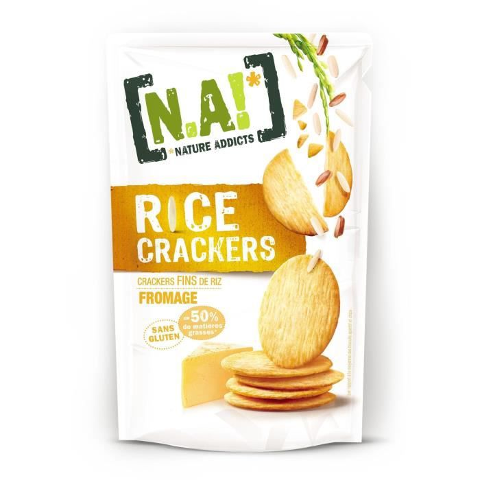 N.A Rice Crackers Sachet de Fromage - 70 g