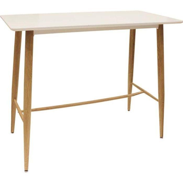Table mange debout plateau blanc scandinave Blanc
