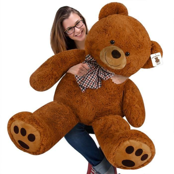 Nounours Teddy Bear - Ours en peluche géant - XL - Brun Clair Chambre enfants