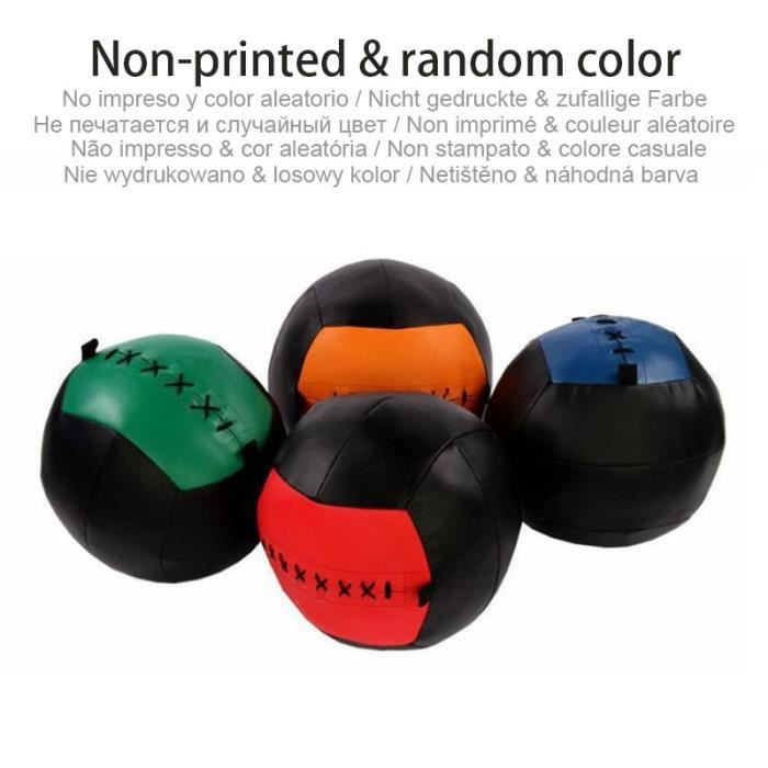2-4-6-8-10KG Crossfit balle de médecine de gymnastique 35cm boule murale vide exercice - Modèle: No Print Empty Ball -
