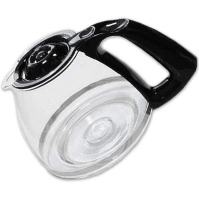 Moulinex Verseuse Noire, 15 Tasses, Compatible avec Cafetière Subito, Principio, Delfini Plus, Réveil Café, Accessoire Officiel FH90