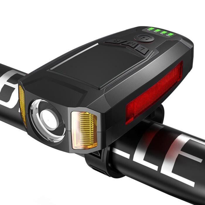 Voyant d'avertissement de lampe de poche de lumière avant de vélo avec les lumières de compteur de vitesse d'ordinateur