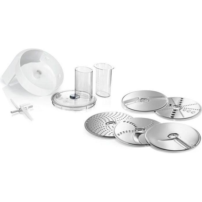 BOSCH MUZ5VL1 - Accessoires pour kitchen machine MUM5 - Lot VeggieLove: 1 acc. Râpeur/éminceur - 5 disques