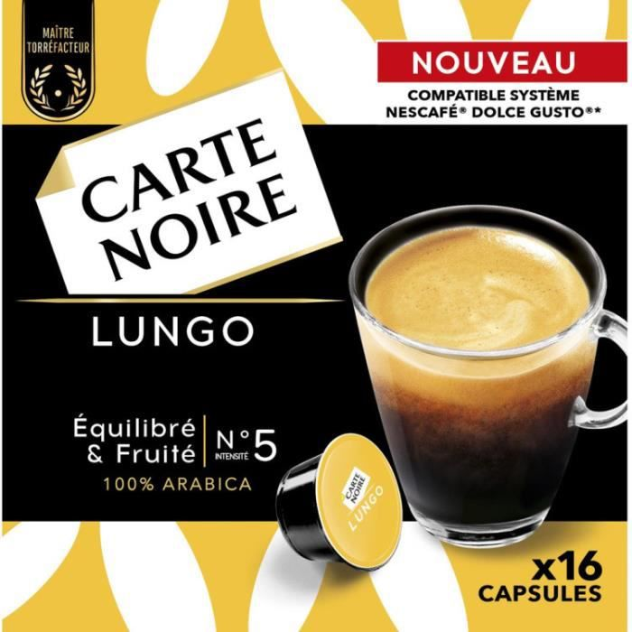 CARTE NOIRE Capsules Dolce Gusto Lungo N°5 x16 - 128 g