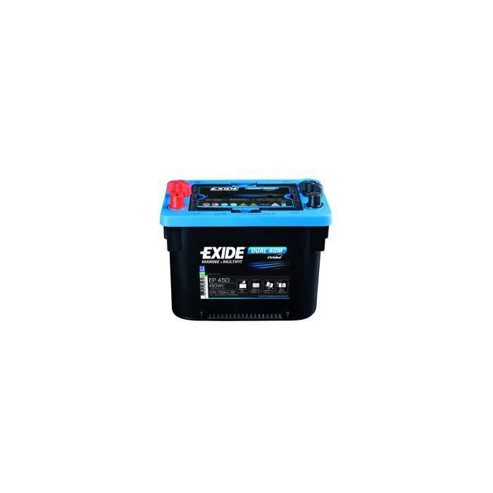 Batterie marine DUAL AGM ORBITAL 95 Ah EXIDE