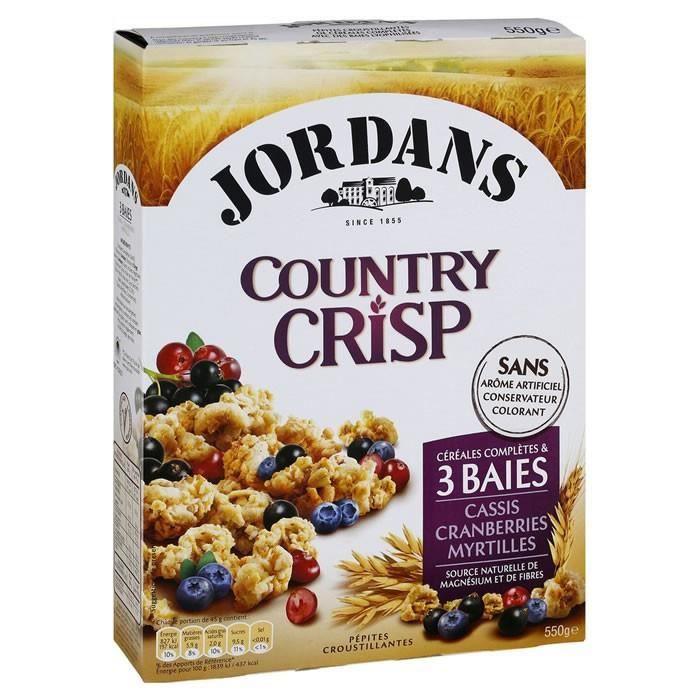 JORDANS Country Crisp - Céréales pépites aux 3 baies 550 g