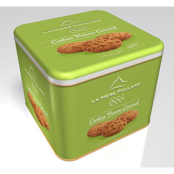 Biscuiterie la Mère Poulard Coffret Fer Cookies Pomme Caramel 400g