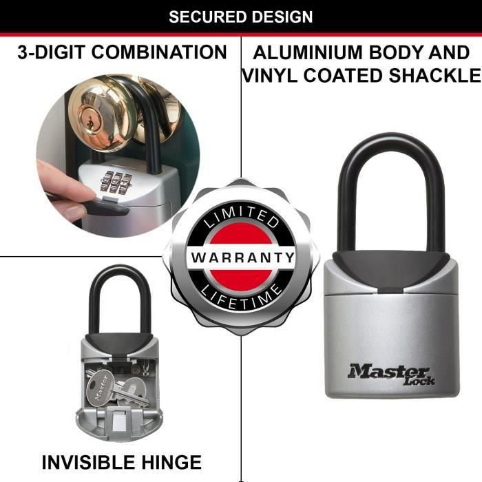 MASTER LOCK Mini Boîte à Clé sécurisée [Format XS] [avec Anse] - 5406EURD