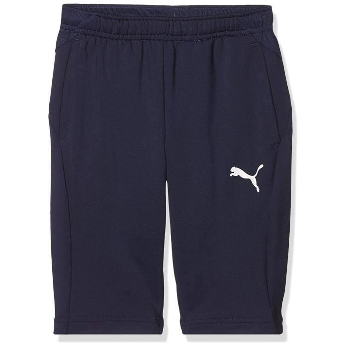 Puma 655640 - COMMUTATEUR KVM - Liga Training 3/4 Pants Jr - Pantalon 3/4 - Mixte Enfant - Bleu (Peacoat/ white) - FR: 14 ans