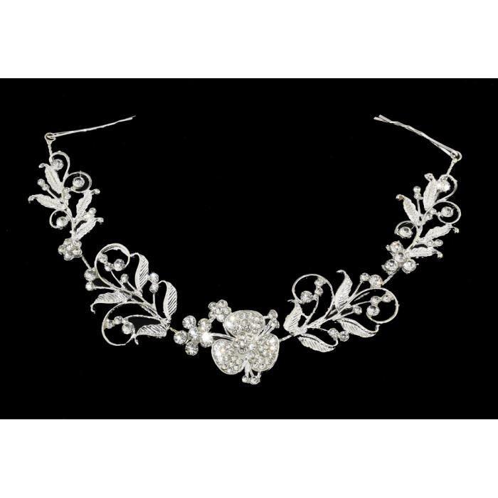 Bijoux Chaîne de Perles à cheveux Double Peignes Doré Bijoux Mariage Neuf