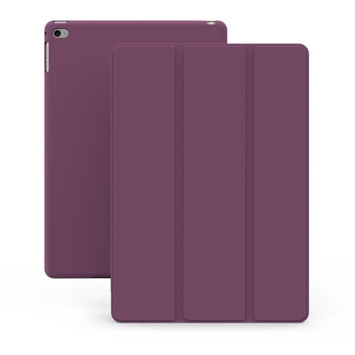 coque ipad mini 4 violette khomo etui tr s fin et leger avec rabat magn tique prix pas cher. Black Bedroom Furniture Sets. Home Design Ideas