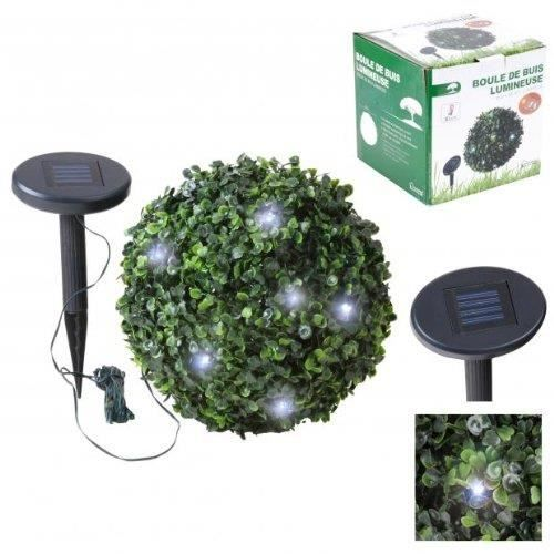 lampe boule buisson buis lumineuse guirlande solai achat vente lampe boule buisson buis lu. Black Bedroom Furniture Sets. Home Design Ideas