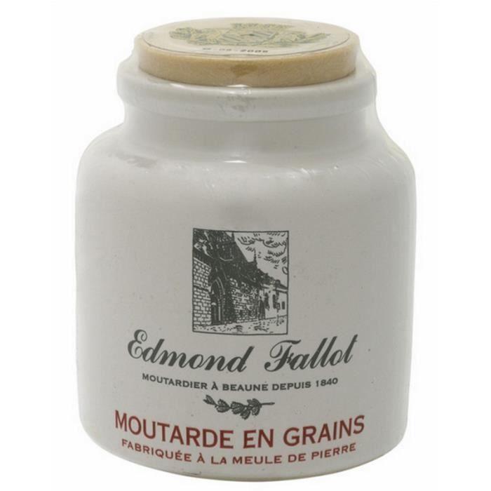 MOUTARDE Moutarde en grains Pot grès