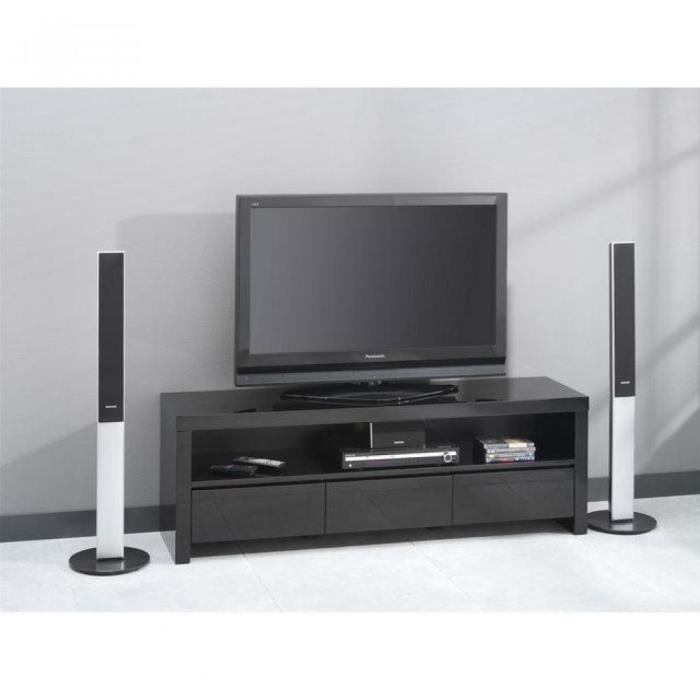 Meuble tv home cin ma design laqu gris achat vente meuble tv meuble tv - Ensemble tv home cinema ...