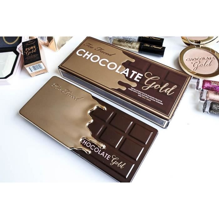 PALETTE DE MAQUILLAGE  Chocolate Gold - Faced - Ombre à paupières - 18 co