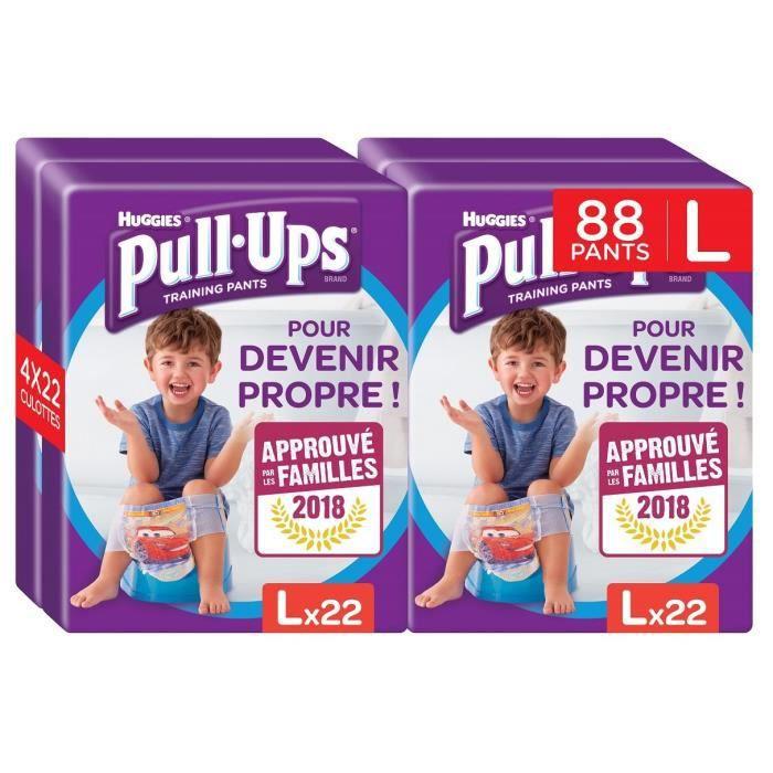 Huggies Pull-Ups Disney Pack de 88 Couches Culottes B/éb/é Gar/çon pour Apprendre /à Devenir Propre Taille L 6