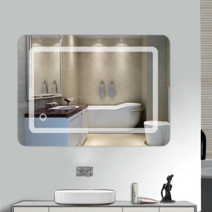 Miroir avec spot salle de bain
