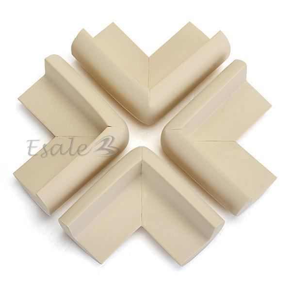4 x beige bumper pare chocs bord coin de table protection pour b b s enfants achat vente - Protection coin de table bebe ...