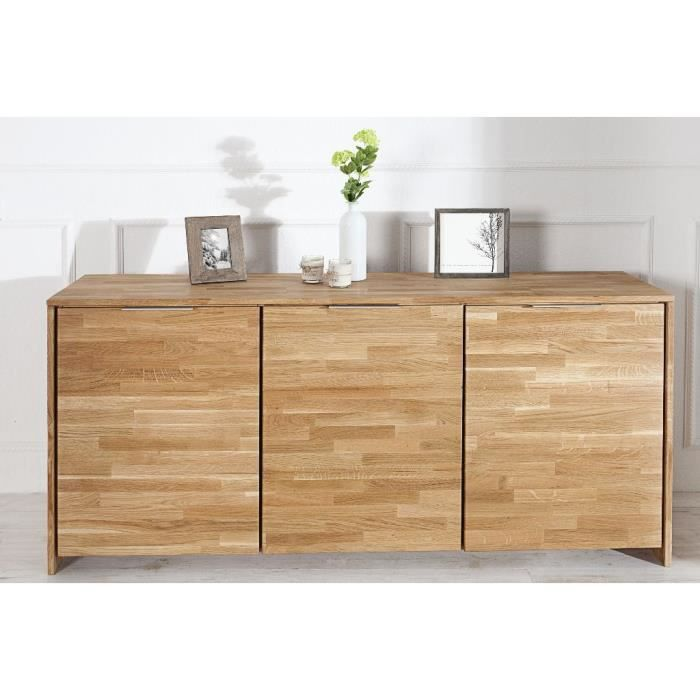 buffet en bois design loak bois fonc achat vente. Black Bedroom Furniture Sets. Home Design Ideas