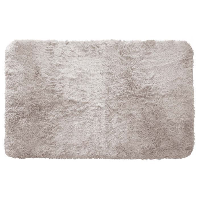 tapis poils longs 50x80cm marmotte gris achat vente tapis cdiscount. Black Bedroom Furniture Sets. Home Design Ideas
