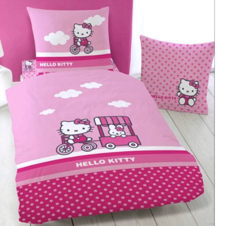 parure de lit enfant hello kitty amarena achat vente. Black Bedroom Furniture Sets. Home Design Ideas