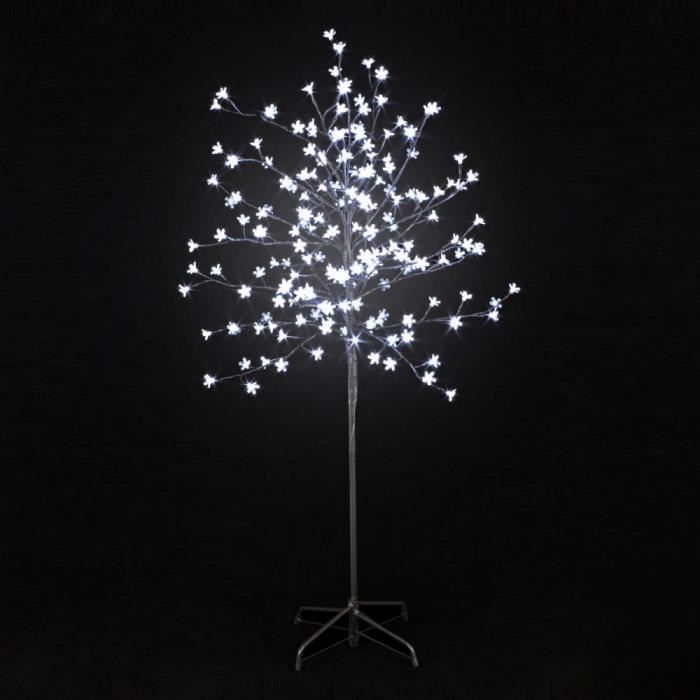 arbre lumineux prunus 200 led blanches achat vente. Black Bedroom Furniture Sets. Home Design Ideas